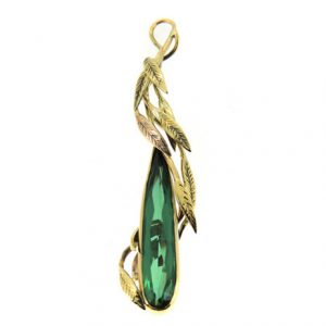 Tourmaline pendant in18ct yellow gold
