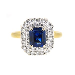 18ct gold Burmese sapphire and diamond ring. £5250.00