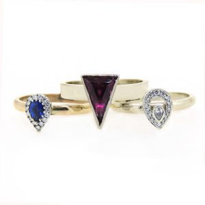 3 9ct  rings in new collection