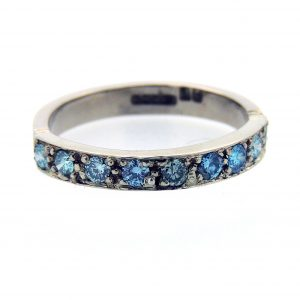 Blue-diamond-half-eternity-ring
