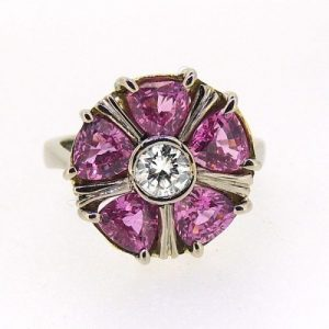 Pink sapphire and diamond ring £3580