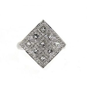 18ct diamond square ring £4500.00