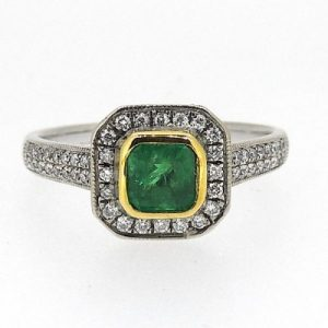 18ct emerald and diamond ring £2350.00