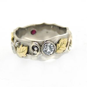 Diamond and ruby organic ring2