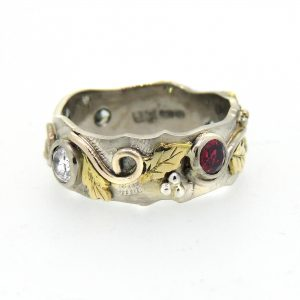 Diamond and ruby organic ring4