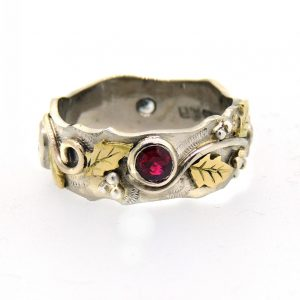 Diamond and ruby organic ring5