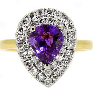 Purple Sapphire and diamond ring   £5630