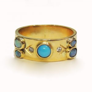 Turquoise and opal ring_edited-2