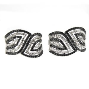 Black and white diamond earrings £4800.00