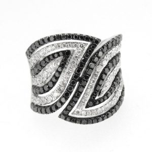 Black and white diamond ring   £4500.00