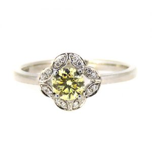 0.40 carat Champagne diamond engagement  ring.     £3100.00