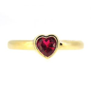 Ruby engagement ring in 18ct gold