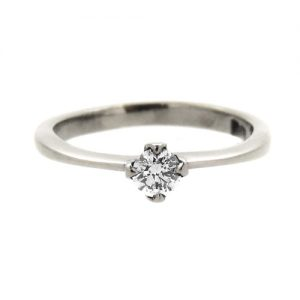 Diamond and platinum engagement ring  £570