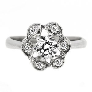 half carat diamond vintage style engagement ring