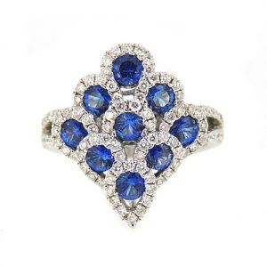 sapphire and diamond peacock ring £2400.00
