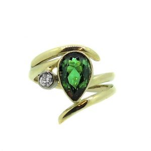 Tourmaline and diamond ring2