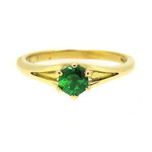 18ct gold Emerald engagement ring
