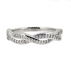 18ct white gold ring 0.23 cts diamonds     £1425.00