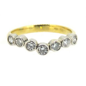 Shaped diamond ring
