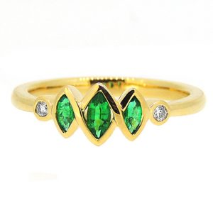 Marquise Emerald ring.     £1750.00