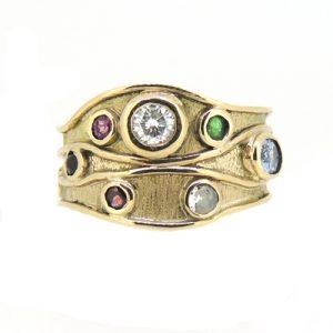 Random stone ring